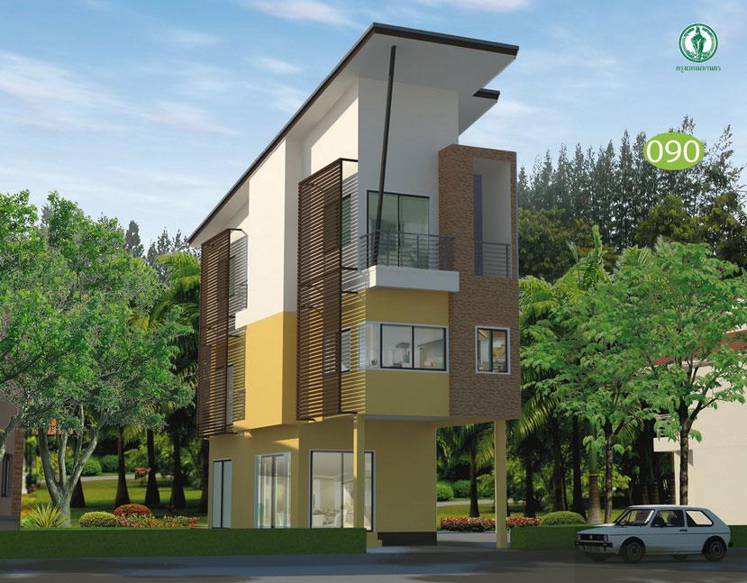 แบบบ้าน 3 ชั้น ราคาไม่เกิน 1 ล้าน 3 ห้องนอน 3 ห้องน้ำ 108.7 ตร.ม (สิงขรา)