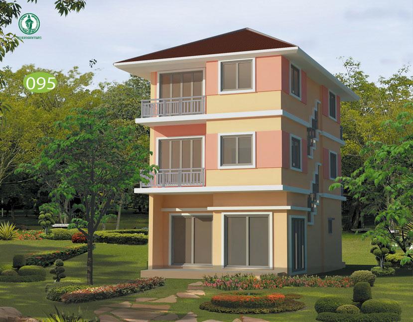 แบบบ้าน 3 ชั้น ราคา 1.57 ล้าน 5 ห้องนอน 5 ห้องน้ำ 185 ตร.ม (เสลา)