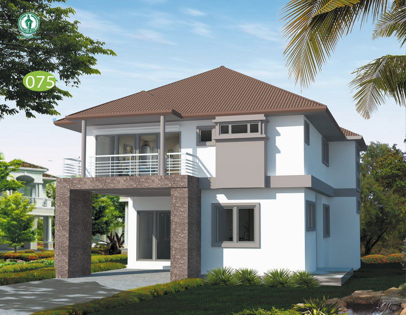 แบบบ้านสองชั้น 2 ห้องนอน 3 ห้องน้ำ 182.5 ตร.ม. ราคา 1.55 ล้าน (ศรนารายณ์)