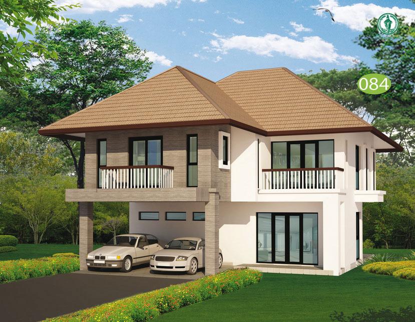 แบบบ้านสองชั้น 3 ห้องนอน 3 ห้องน้ำ 225 ตร.ม ราคา 1.91 ล้าน (สอยดาว)