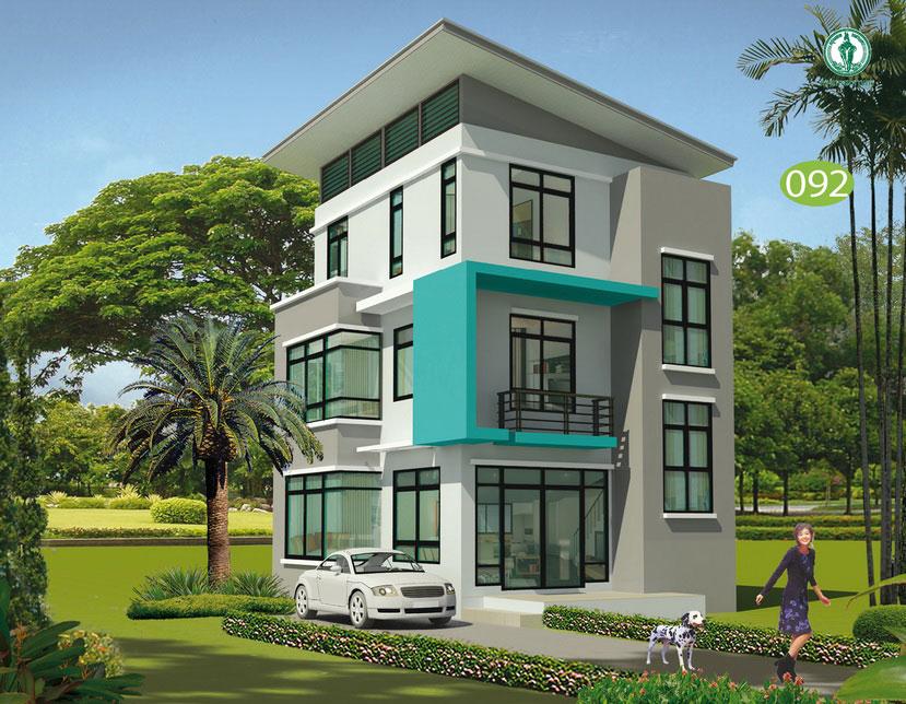 แบบบ้าน 3 ชั้น ราคา 1.2 ล้าน 3 ห้องนอน 3 ห้องน้ำ 147 ตร.ม (สิรินธรวลี)