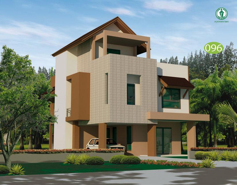 แบบบ้าน 3 ชั้น ราคา 1.76 ล้าน 3 ห้องนอน 3 ห้องน้ำ 208 ตร.ม (แสมสาร)