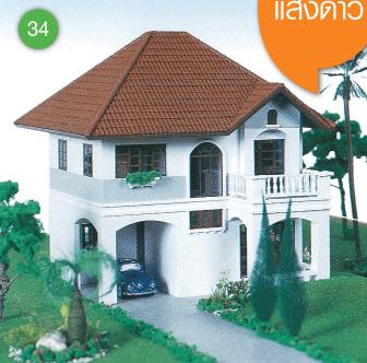 แบบบ้านสองชั้น 3 ห้องนอน 2 ห้องน้ำ 121.5 ตร.ม ราคา 1.21ล้าน (แสงดาว)