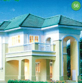 แบบบ้านสองชั้น 3 ห้องนอน 2 ห้องน้ำ 185 ตร.ม ราคา 1.85ล้าน (พรอำไพ 2)