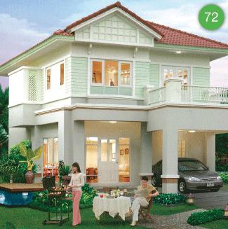 แบบบ้านสองชั้น 3 ห้องนอน 2 ห้องน้ำ 156 ตร.ม ราคา 1.56ล้าน (พุดพิชญา)