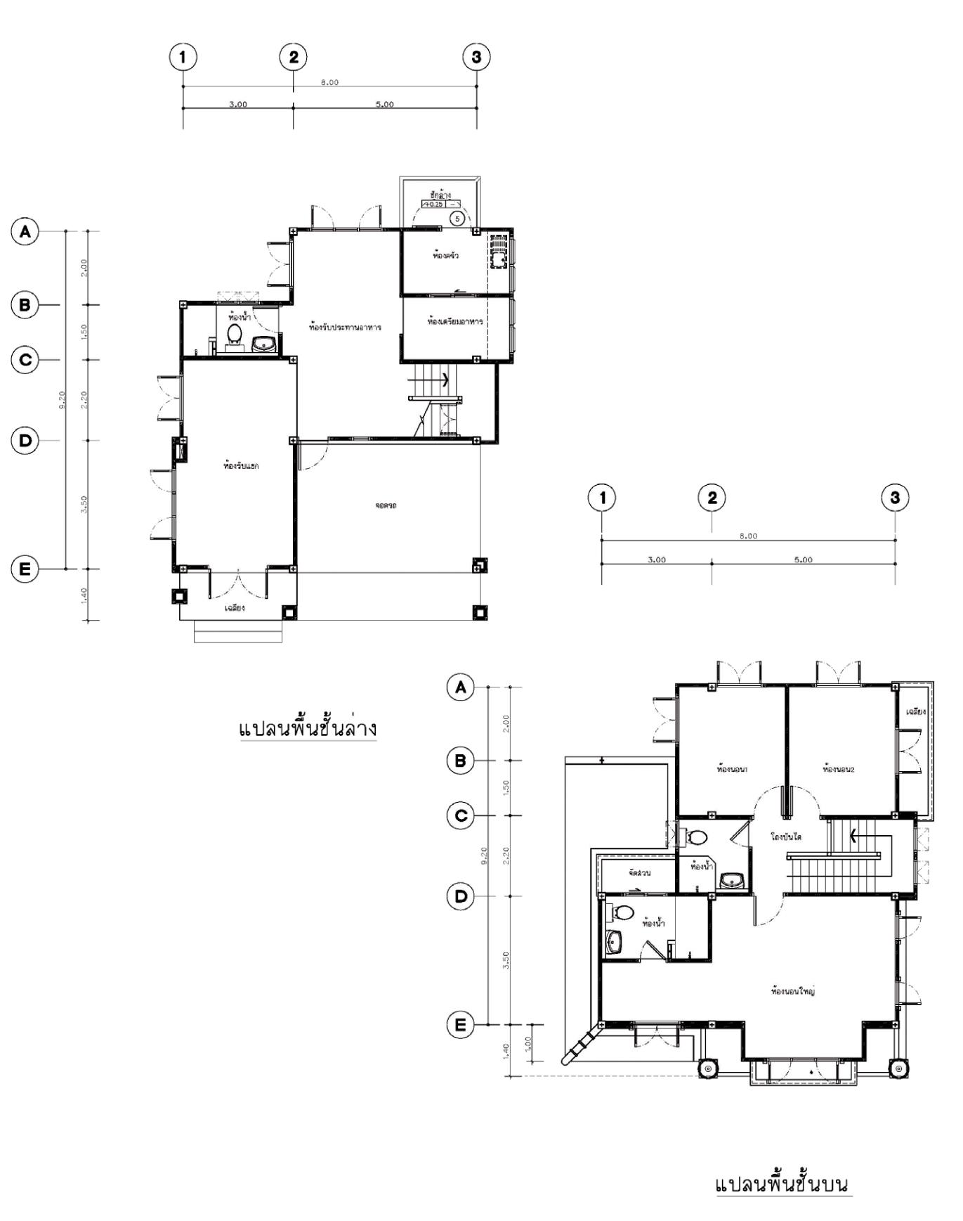 แบบบ้านสองชั้น 3 ห้องนอน 3 ห้องน้ำ 235 ตร.ม ราคา 2.35ล้าน (ลีลาวดี)