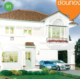 แบบบ้านสองชั้น 3 ห้องนอน 3 ห้องน้ำ 190 ตร.ม ราคา 1.90ล้าน (ช้อนทอง)