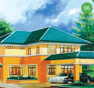 แบบบ้านสองชั้น 3 ห้องนอน 5 ห้องน้ำ 382 ตร.ม ราคา 3.82ล้าน (ครอบครัวไทยเป็นสุข 8)