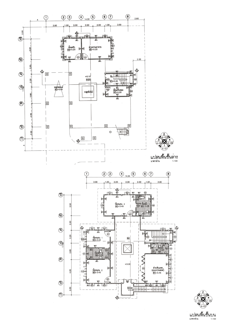 แบบบ้านสองชั้น 3 ห้องนอน 3 ห้องน้ำ 332 ตร.ม ราคา 3.32ล้าน (ไทยอนุรักษ์ไทยภาคเหนือ)